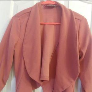 Women'S 3/4 stretchy Sleeve Blazer Open Front Offi